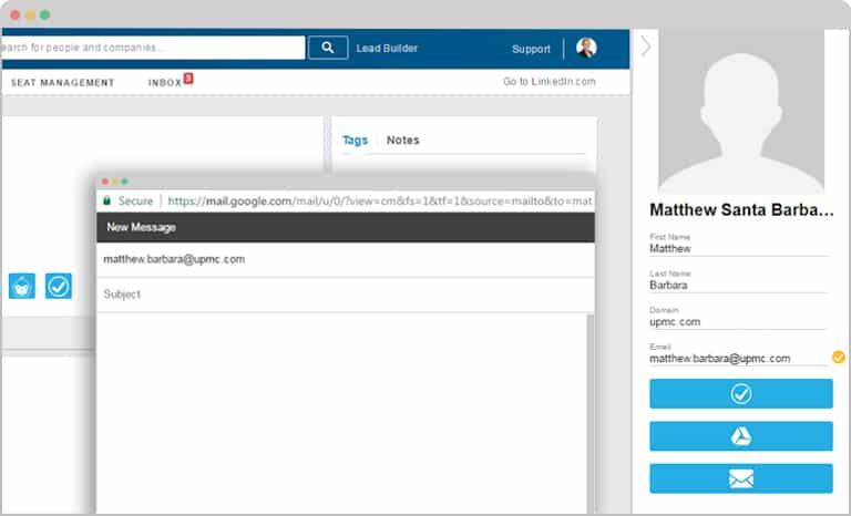 LeadGibbon email window