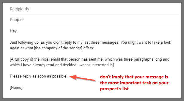 follow up email sample #1